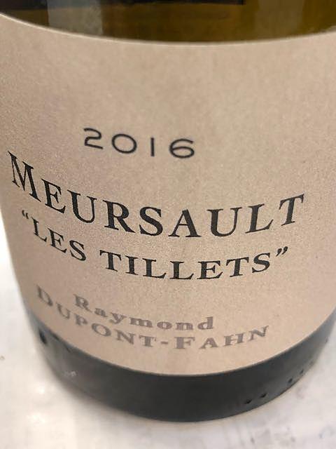 Raymond Dupont Fahn Meursault Les Tillets