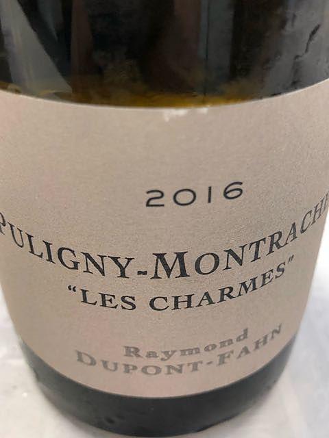 Raymond Dupont Fahn Puligny Montrachet Les Charmes
