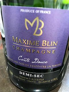 Maxime Blin Carte Douce Demi Sec