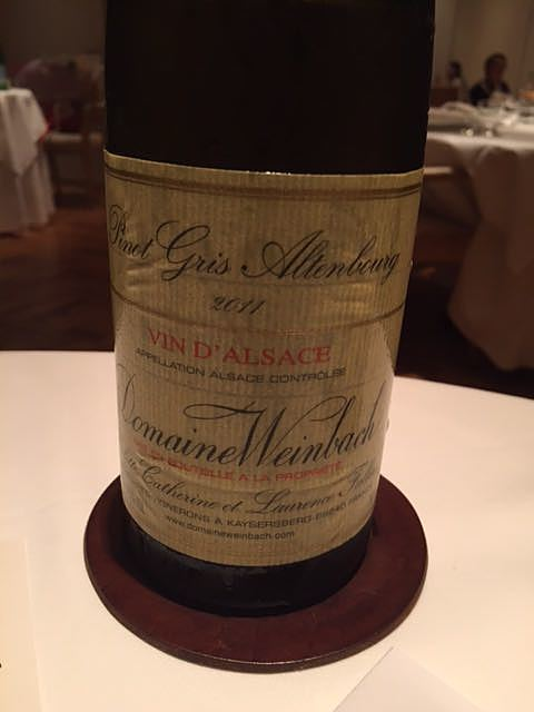 Dom. Weinbach Pinot Gris Altenbourg(ドメーヌ・ヴァインバック ピノ・グリ アルテンブルグ)