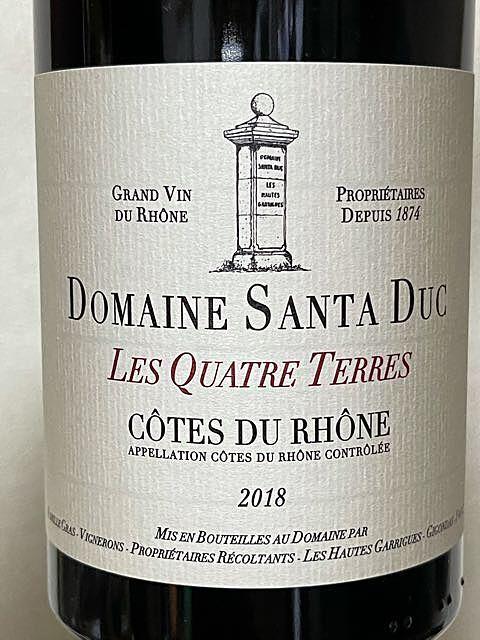 Dom. Santa Duc Côtes du Rhône Les Quatre Terres