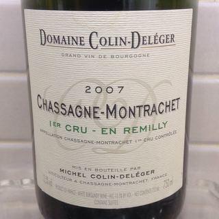 Dom. Colin Deléger Chassagne Montrachet 1er Cru En Remilly(ドメーヌ・コラン・ドルジェ シャサーニュ・モンラッシェ プルミエ・クリュ アン・ルミリィ)