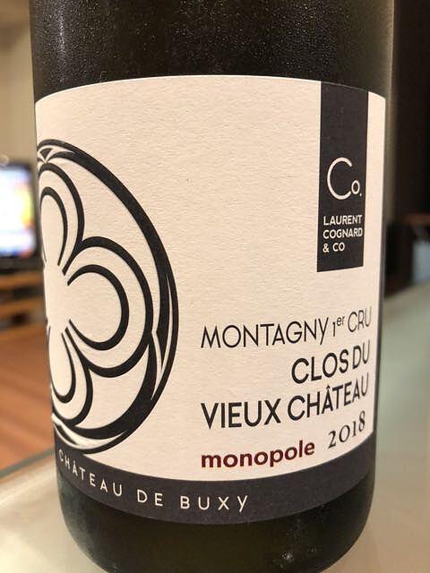 Dom. Laurent Cognard Montagny 1er Cru Clos du Vieux Château Monopole(ドメーヌ・ローラン・コニャール モンタニー プルミエ・クリュ クロ・デュ・ヴュー・シャトー)