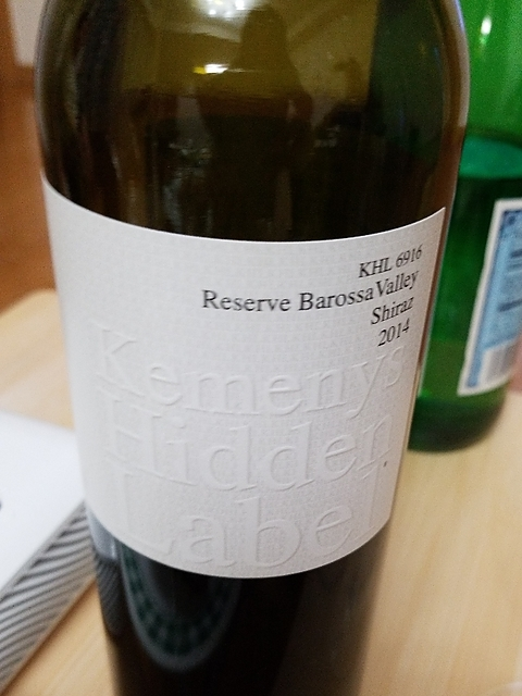 Kemenys Hidden Label KHL 6916 Reserve Barossa Valley Shiraz