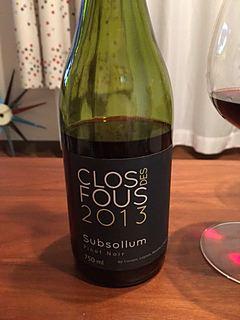 Clos des Fous Pinot Noir Subsollum(クロ・デ・フ ピノ・ノワール スブソルム)