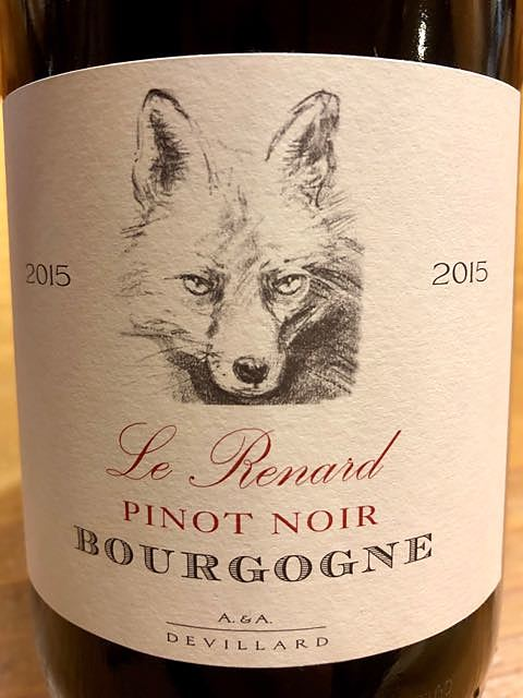 Devillard Le Renard Bourgogne Pinot Noir(ドヴィラール ル・ルナール ブルゴーニュ ピノ・ノワール)
