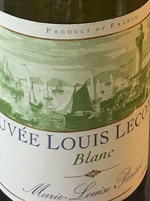 Marie Louise Parisot Cuvée Louis Lecomte Blanc(マリー・ルイズ・パリゾ キュヴェ・ルイ・ルコント ブラン)
