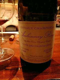 Egly Ouriet Coteaux Champnois Ambonnay Rouge Cuvée des Grands Côtes