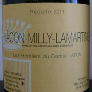 Les Héritiers du Comte Lafon Mâcon Milly Lamartine(レ・ゼリティエール・デュ・コント・ラフォン マコン・ミリー・ラマルティーヌ)