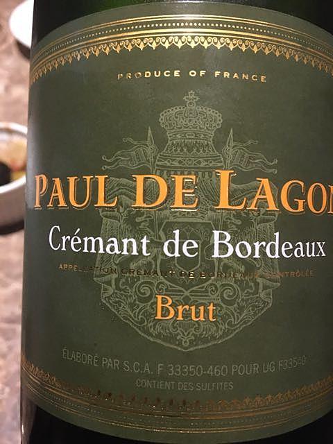 Paul de Lagon Crémant de Bordeaux Brut