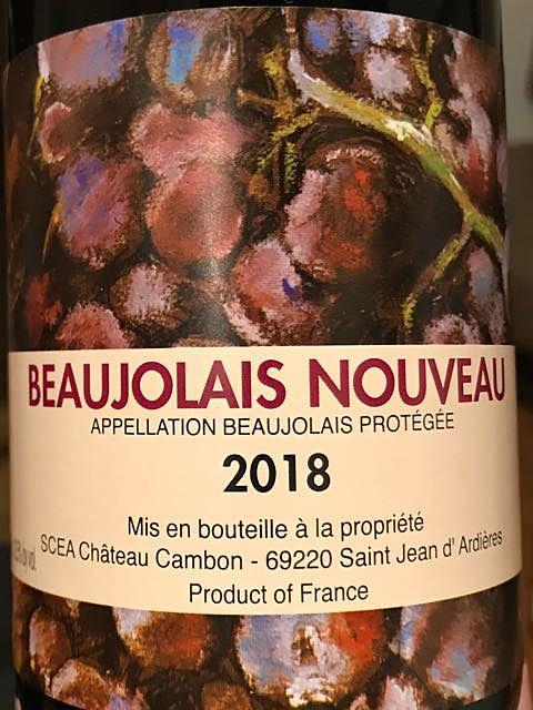 Ch. Cambon (M. Lapierre) Beaujolais Nouveau
