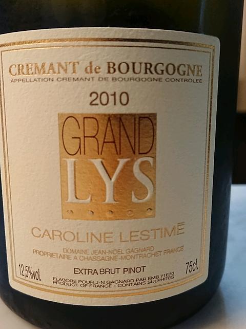 Caroline Lestimé Grand Lys Crémant de Bourgogne Extrra Brut(カロリーヌ・レスティメ グラン・リス クレマン・ド・ブルゴーニュ エクストラ・ブリュット)