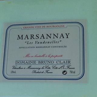 Dom. Bruno Clair Marsannay Les Vaudenelles