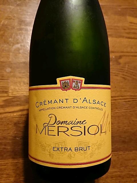 Dom. Mersiol Crémant d'Alsace Extra Brut(ドメーヌ・メルシオル クレマン・ダルザス エクストラ・ブリュット)