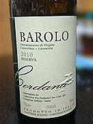 コルダーナ バローロ リゼルヴァ(2010)