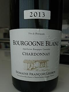 Dom. François Legros Bourgogne Blanc Chardonnay(ドメーヌ・フランソワ・ルグロ ブルゴーニュ・ブラン シャルドネ)