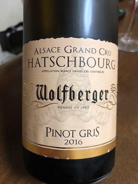 Wolfberger Pinot Gris Grand Cru Hatschbourg(ウォルフベルジェ ピノ・グリ グラン・クリュ アッシュブルグ)