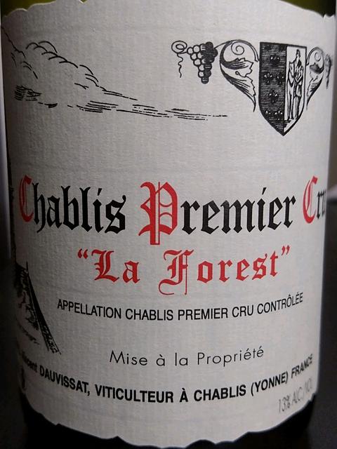 Vincent Dauvissat Chablis 1er Cru La Forest(ヴァンサン・ドーヴィサ シャブリ プルミエ・クリュ ラ・フォレ)