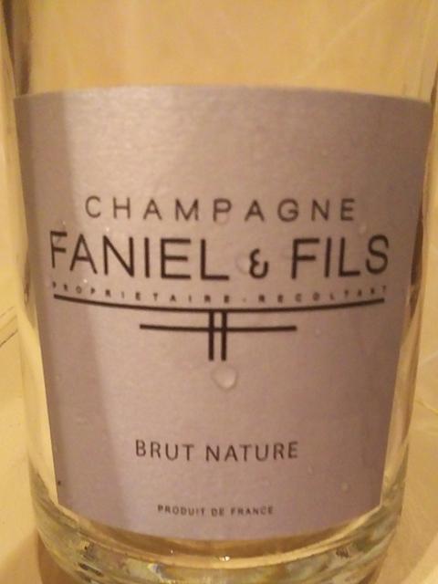 Faniel & Fils Brut Nature(ファニエール・エ・フィス ブリュット・ナチュール)