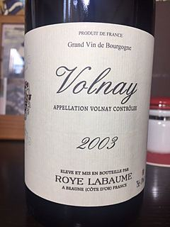 Roye Labaume Volnay(ロワ・ラボーム ヴォルネイ)