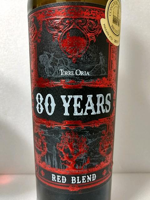 Torre Oria 80 Years Red Blend(トッレ・オリア エイティ・イヤーズ レッド・ブレンド)