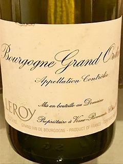 Dom. Leroy Bourgogne Grand Ordinaire Blanc(ドメーヌ・ルロワ ブルゴーニュ・グラン・オルディネール ブラン)