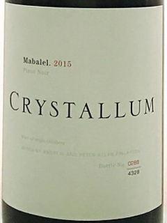 Crystallum Mabalel Pinot Noir(クリスタルム マバレル ピノ・ノワール)