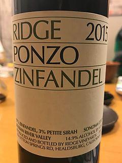 Ridge Ponzo Zinfandel 2015
