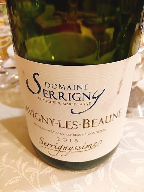 Dom. Serrigny Savigny les Beaune Serrignyssime(ドメーヌ・セリニー サヴィニー・レ・ボーヌ セリニシム)