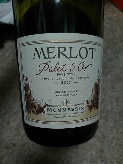 Mommessin Merlot Palet d'Or(モメサン メルロー パレ・ドール)