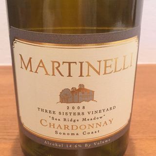 Martinelli Three Sisters Vineyard Sea Ridge Meadow Chardonnay