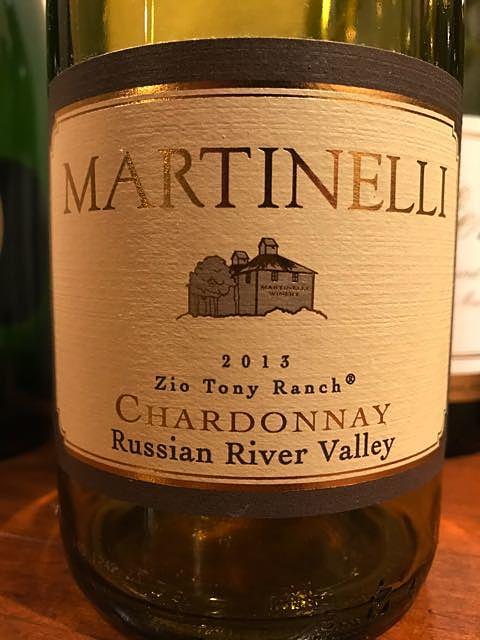 Martinelli Zio Tony Ranch Chardonnay(マルティネッリ ジオ・トニー・ランチ シャルドネ)