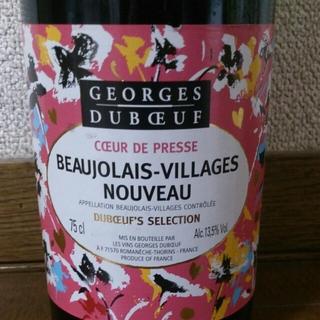 Georges Duboeuf Beaujolais Villages Nouveau Duboeuf's Sélection Coeur de Presse