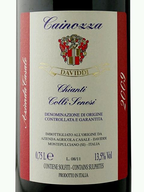 Casale Daviddi Cainozza Chianti Colli Senesi(カサーレ ダヴィッディ カイノーザ キャンティ コッリ セネージ)