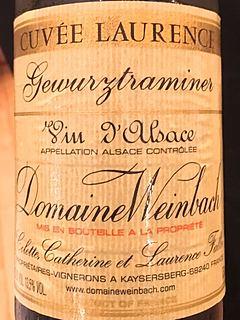 Dom. Weinbach Gewürztraminer Cuvée Laurence(ドメーヌ・ヴァインバック ゲヴュルツトラミネル キュヴェ・ローランス)