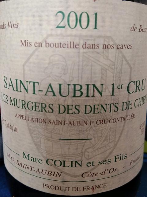 Marc Colin et Fils Saint Aubin 1er Cru Les Murgers des Dents de Chien