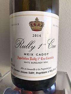 Dom. Jacques Dury Rully 1er Cru Meix Cadot(ドメーヌ・ジャック・ドゥリ リュリィ プルミエ・クリュ メ・カド)