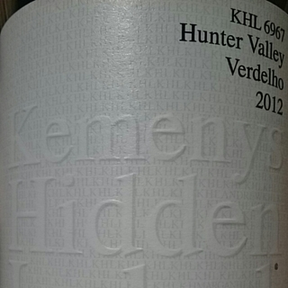 Kemenys Hidden Label KHL 6967 Hunter Valley Verdelho