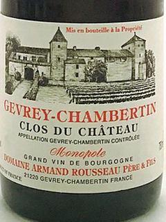 Dom. Armand Rousseau Gevrey Chambertin Clos du Château Monopole