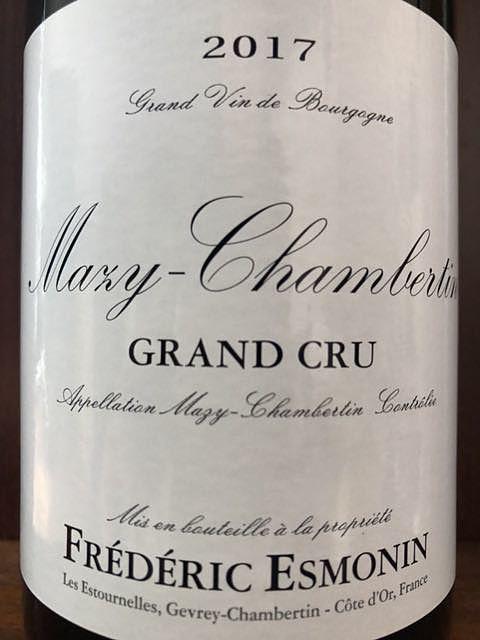 Frédéric Esmonin Mazy Chambertin Grand Cru