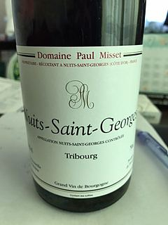 Dom. Paul Misset Nuits Saint Georges Tribourg(ドメーヌ・ポール・ミセ ニュイ・サン・ジョルジュ トリブール)