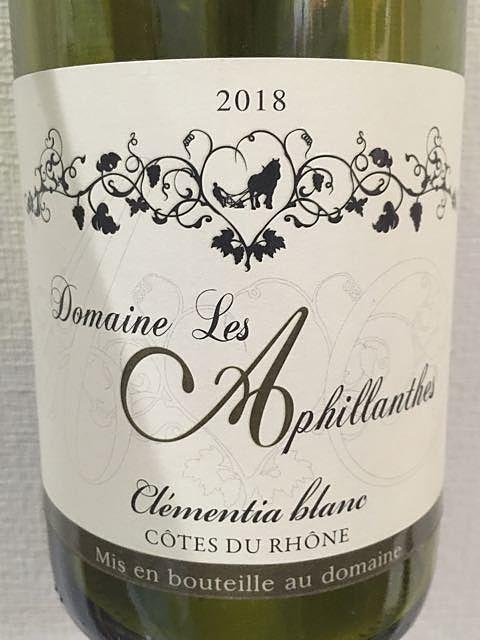 Dom. Les Aphillanthes Côtes du Rhône Clementia Blanc