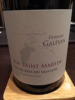 Dom. Galévan Puy Saint Martin(ドメーヌ・ガレヴァン ピュイ・サン・マルタン)
