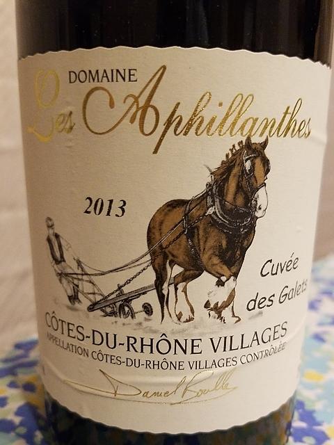 Dom. Les Aphillanthes Côtes du Rhône Villages Cuvée des Galets