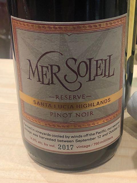 Mer Soleil Reserve Pinot Noir Santa Lucia Highlands(メール・ソレイユ リザーヴ ピノ・ノワール サンタ・ルチア・ハイランズ)