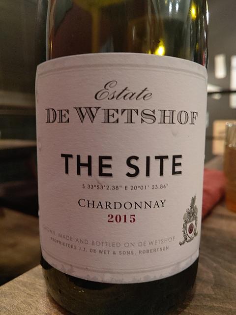 De Wetshof The Site Chardonnay(デ・ウェホフ ザ・サイト シャルドネ)