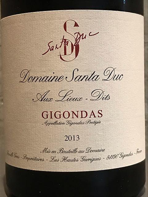 Dom. Santa Duc Gigondas Aux Lieux Dits