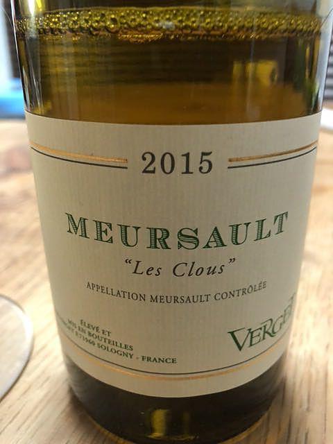 Verget Meursault Les Clous
