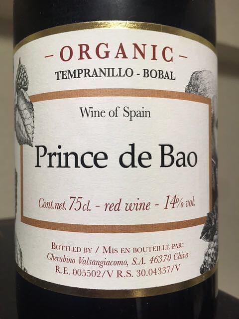 Prince de Bao Organic Tinto
