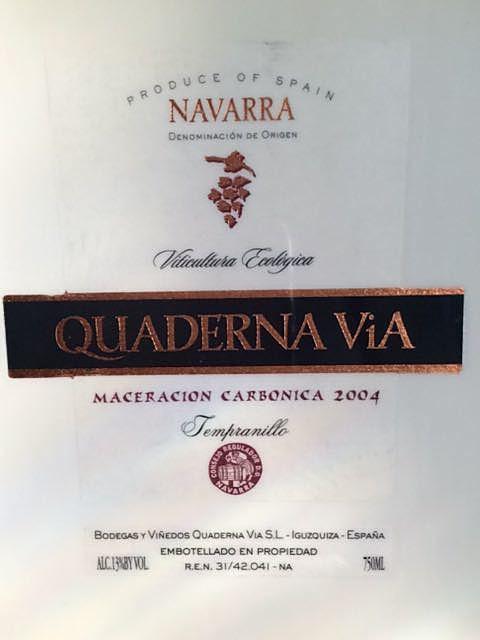 Quaderna Via Maceración Carbónica(クァデルナ・ヴィア マセラシオン・カルボニカ)